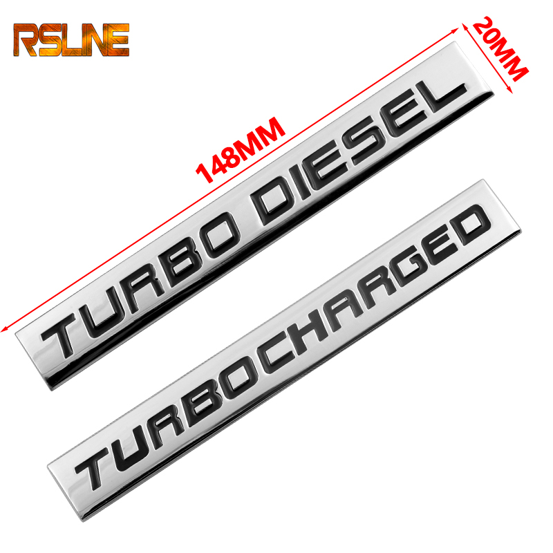3D Metal Zinc Alloy TURBO DIESEL Letter Emblem Badge Decal Auto Rear Trunk Accessories Car Styling Automobiles Car Stickers