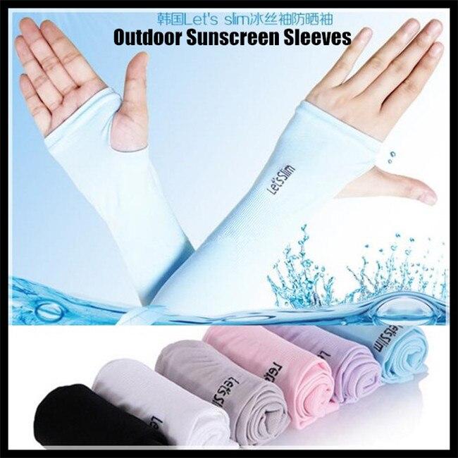 Section drove UV sunscreen Half Finger Cuff Sunscreen Arm Sleeves Hand Protection Women&Men Fingerless Long Gloves