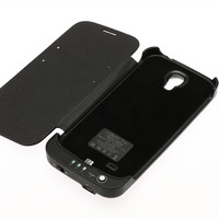 3800mAh Backup Battery Charger Case Leather Stand Cover For Samsung Galaxy S IV S4 I9500 I9502
