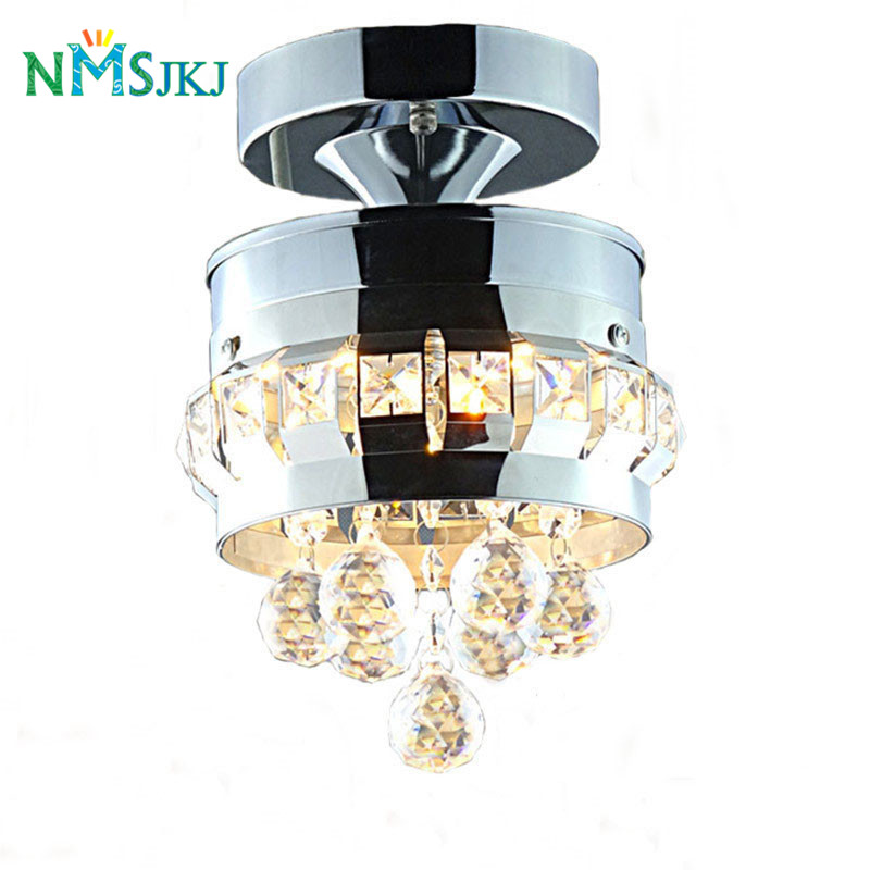 Modern Circular Stainless Steel&Transparent Crystal Warm&White Light LED Ceiling Light for Dining Room/ Corridor/ EntranceModern Circular Stainless Steel&Transparent Crystal Warm&White Light LED Ceiling Light for Dining Room/ Corridor/ Entrance