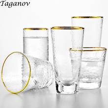 Bar Glass Drink for Drinking Water Milk Dessert Cocktail Drinkware Sets Lead-free Wine Cups Clear Tea Coffee Glasses