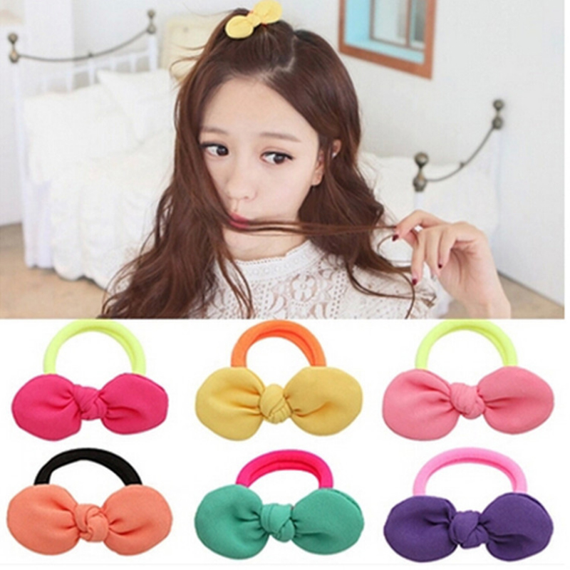 10pcs2017 Cute Baby Girl Flower Hair Bows Headbands Headwear Elastic Hair Band For Women Hair Rope Girls Accessories Hair Rubber mism girl french hair bun maker multifunctional hair accessories for women fine roller curls styling holder curlers headbands