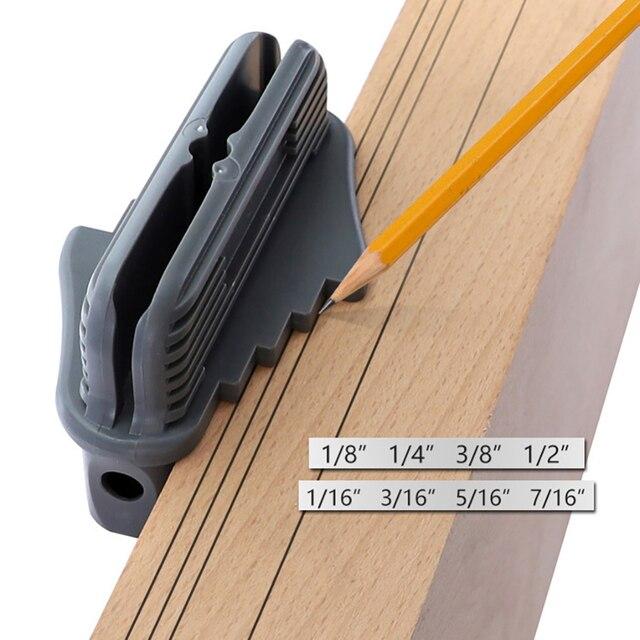 64mm Plastic Center Scribe Marking Tool Inch Center Offset Line Marking Gauge Woodworking Center Finder Line Scriber With Magnet