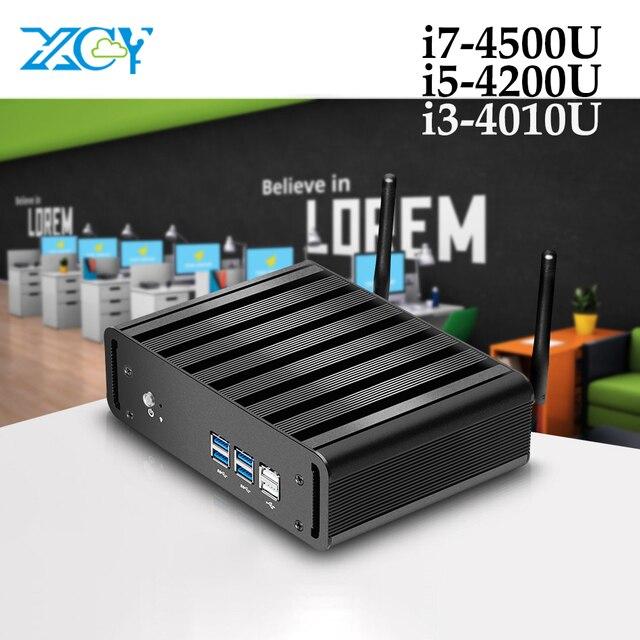 XCY мини-ПК Intel Core i3 4010U i5 4200U i7 4500U 6 * USB Micro Мини компьютер Windows 10 Настольный HD графика 4400 Wifi HDMI