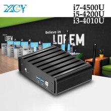 XCY Мини ПК Intel Core i3 4010U i5 4200U i7 4500U 6 * USB микро мини компьютер оконные рамы 10 Настольный HD графика 4400 Wi Fi HDMI