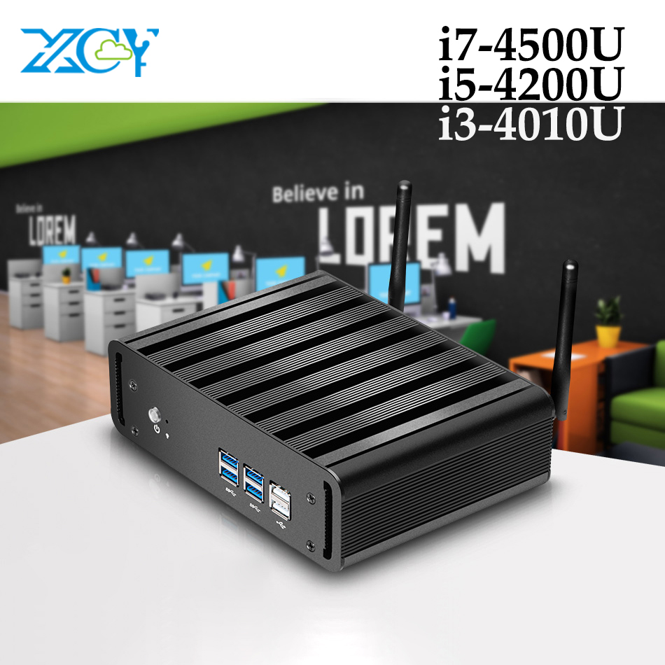 XCY Mini PC Intel Core I3 4010U I5 4200U I7 4500U 6*USB Mini Computer HD Graphics 4400 Wifi HDMI Household Office Gaming