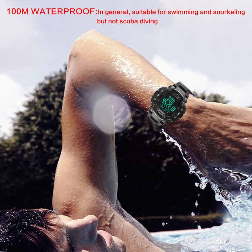 100m מים עמיד גברים ספורט שעונים BOAMIGO מותג מד צעדים קלוריות LED דיגיטלי שעונים לשחות סט שעוני יד reloj hombre