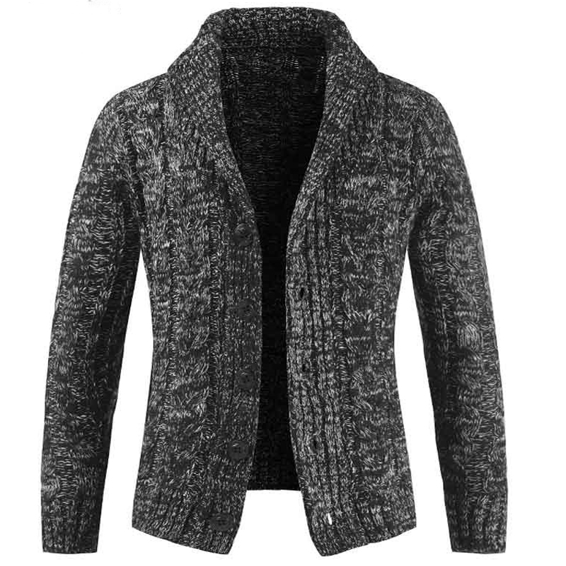 Style européen et américain hommes Sweatercoat tricoté laine Cardigan chandails pour hommes grande taille 3XL hommes chandails Streetwear A373