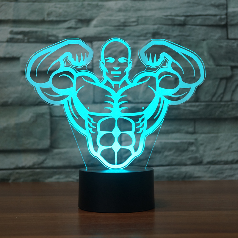 Lights & Lighting 3d Muscle Man Model Led Rgb Night Light Touch Switch 7 Color Change Desk Table Lamp Children Christmas Gift Novelty Home Decor In Short Supply