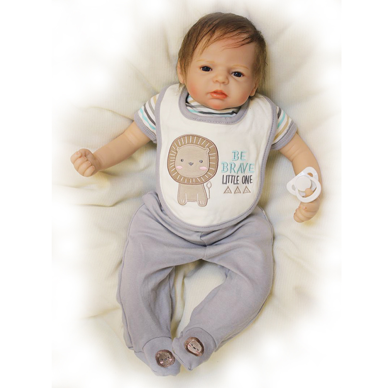 Safe Silicone Touch Soft Reborn Baby Dolls 22'' 55 cm Lifelike Baby Doll Toys For Children Model Doll Hot Sale Boy Birthday Gift short curl hair lifelike reborn toddler dolls with 20inch baby doll clothes hot welcome lifelike baby dolls for children as gift