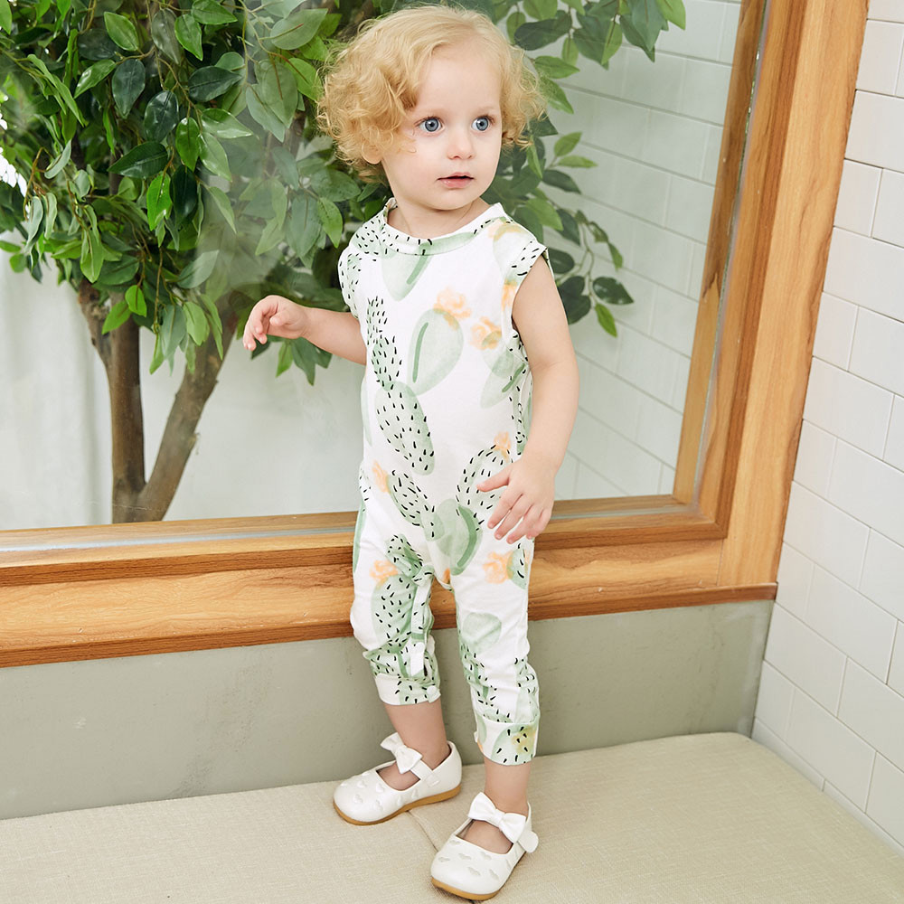 MUQGEW Summer 2018 Newborn Infant Baby Girl Boy Cactus Printed Romper Sleeveless Babygrow Baby Clothes Jumpsuit Playsuit Outfit summer newborn infant baby girl romper sleeveles cotton floral romper jumpsuit outfit playsuit clothes