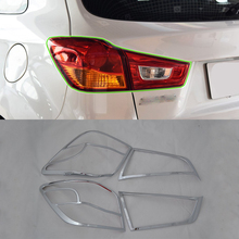 цена на car parts ABS chrome taillight cover 2pcs Car Styling accessories For Mitsubishi 2013 ASX