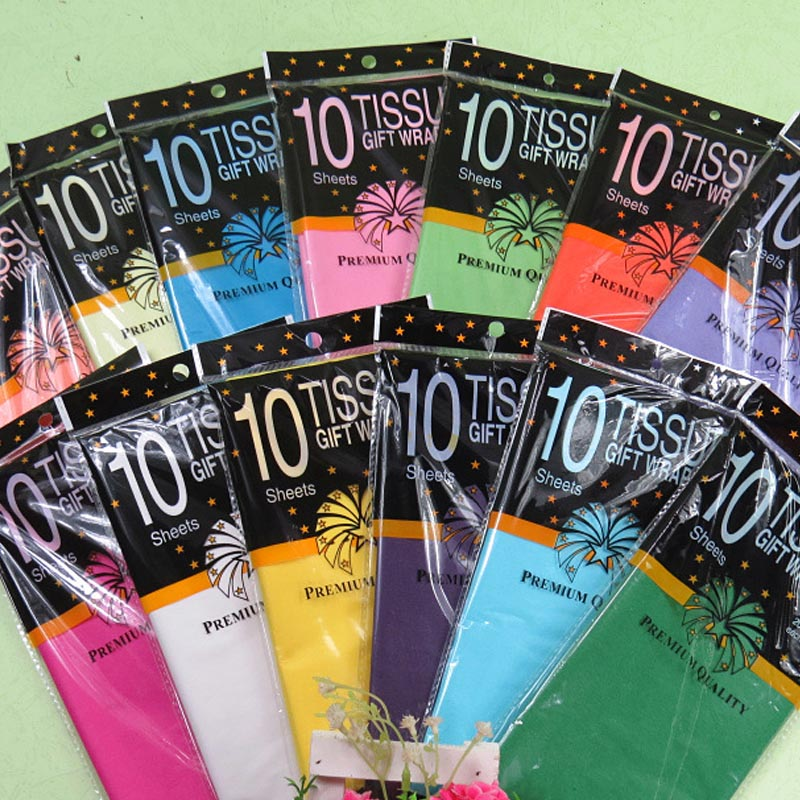 10 Pcs  Tissue Paper Flower Clothing Shirt Shoes Gift Packaging Craft Paper Roll Wine Wrapping Papers