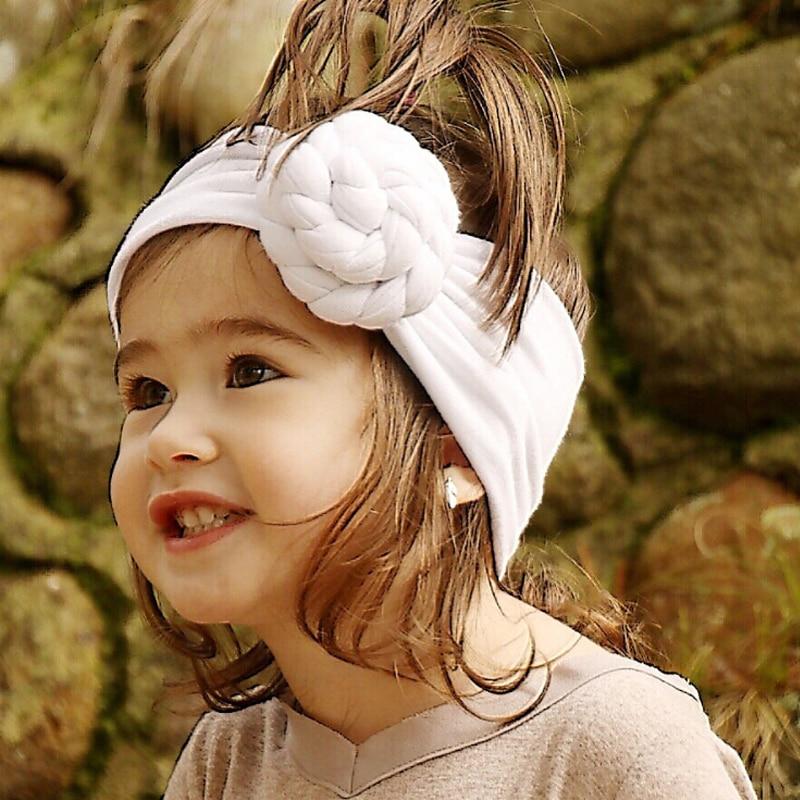 TWDVS Baby Tie Knot Headband Knitted Cotton Children Girls Hair Band Toddler Turban Headband Summer Style   Headwear   bandeau bebe