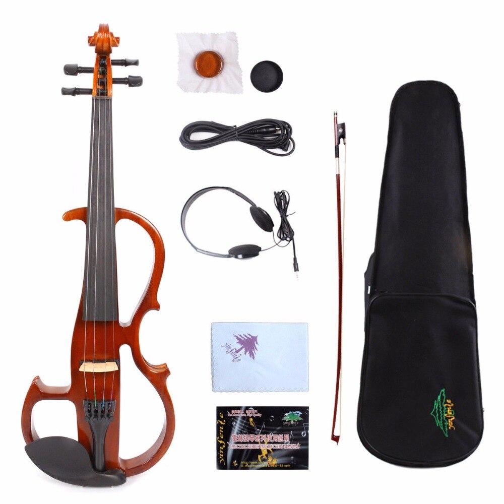 Новый 3/4 Электрический скрипки для ребенка Silent практика эбеновые крепления случае лук # YZ11