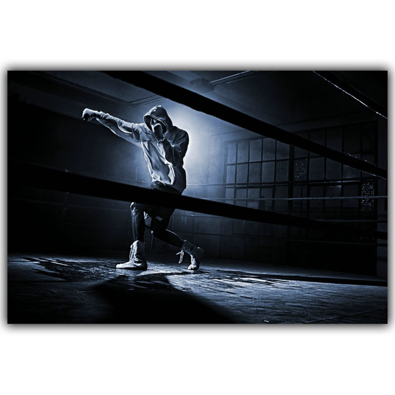 Online Shop Boxing Bodybuilding Motivation Quote Art Poster Print Silk Canvas Fabric Picture Room Decor YD388
