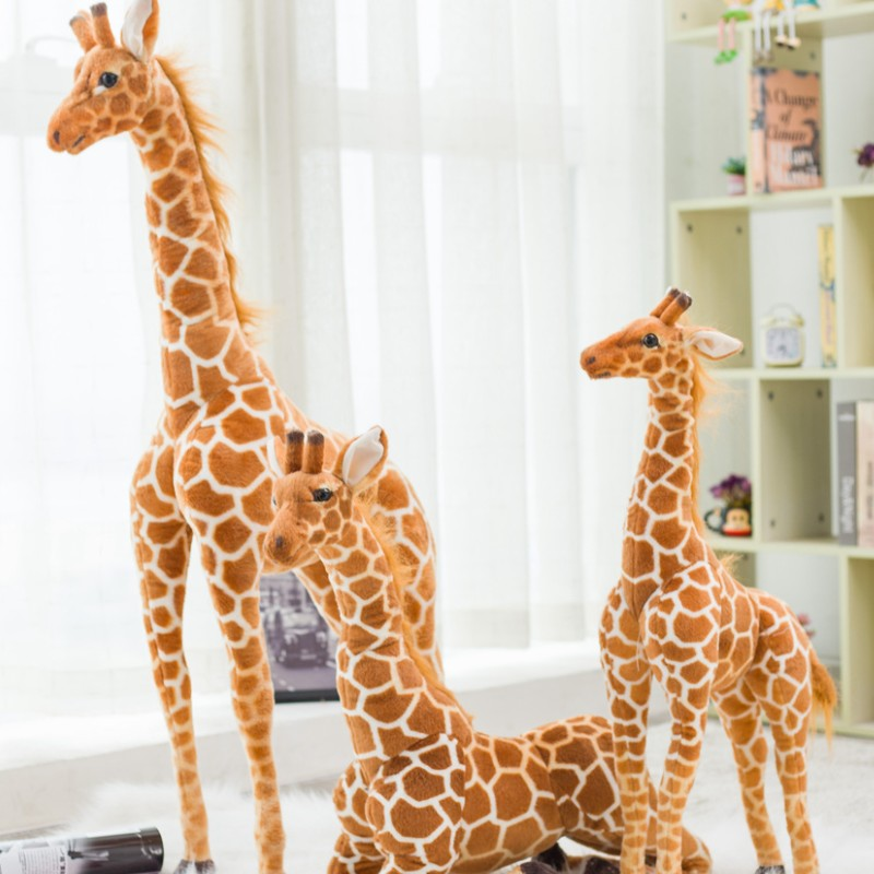 Giant Size Giraffe Plush Toys Cute Stuffed Animal Soft Giraffe Doll Birthday Gift Kids Toy