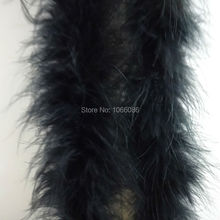 "Free Shipping 5Pcs/lot 200cm(79"") BLACK Chicken Feather Strip Wedding Marabou Feather Boa Turkey Feather Boa"