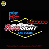 2016 New Neon Sign Coors Light Las Vegas Beer Bar Pub Glass Tube Neon Signs Handcrafted