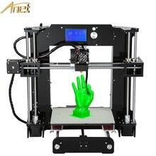 De alta calidad fácil de montar anet máquina impresora 3d prusa i3 filamento impresora 3d kit diy con el envío de vídeo enseñanza