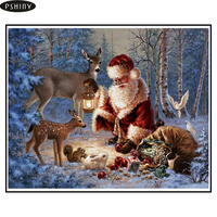 3d DIY Diamond Painting Mosaic Cross Stitch Full Square Rhinestone 5d Diamond Embroidery Christmas Santa Claus