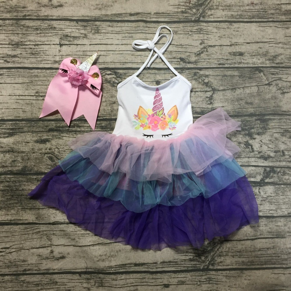 df738b243c622 US $9.99 Spring summer dress sequin baby girls summer flamingo tulle ...