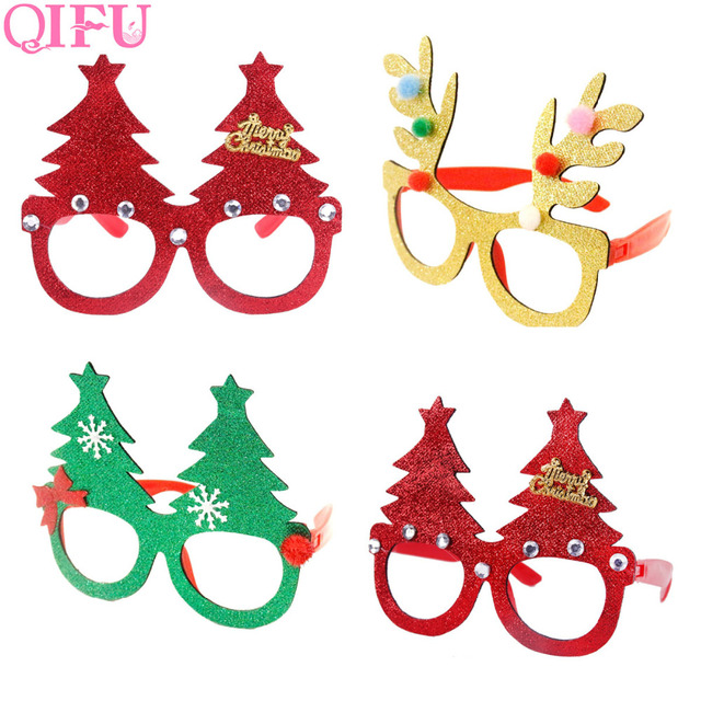 QIFU Merry Christmas Ornaments Christmas Frame Glasses Funny Toys