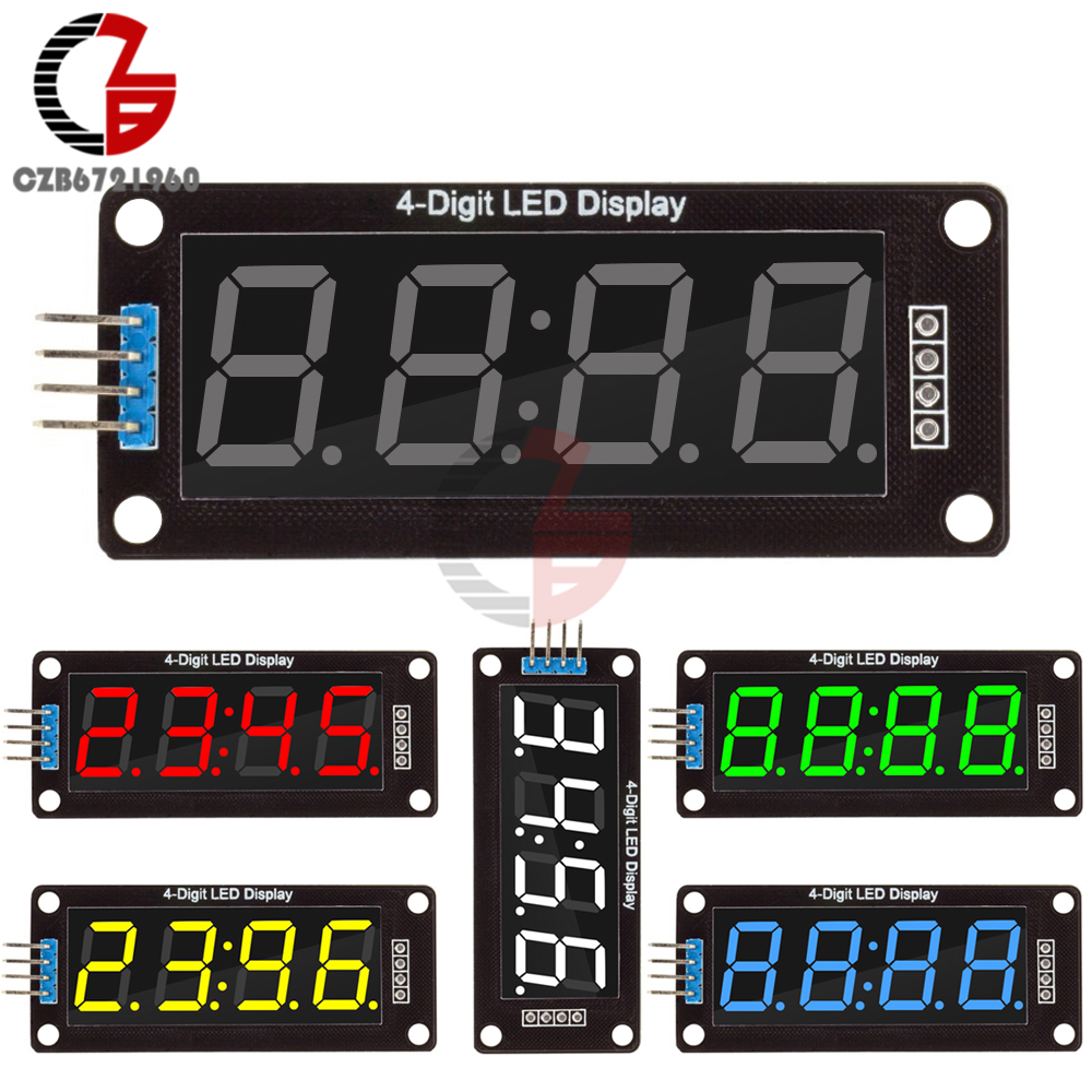 0.56 Digital LED Display Module 4-Digit 7 Segment Time Clock Display Tube Driver Board 0.56 inch 5 Color DIY Kit for Arduino free shipping 10pcs lot wholesale 0 56 inch 1 digit 7 seven segment red light led numeric digital display common cathode
