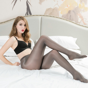 Image 5 - 3pairs 70D Women Plus Size Tights  Sexy Oil Shiny Glitter Pantyhose Yarns Sex glossy Brown Stockings Dance Fitness opaque Hose