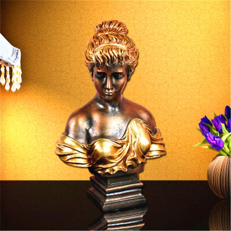 Figure Statua Bella Ragazza Testa Ritratti Modello di Stile Europeo Decorazioni Per La Casa G1327Figure Statua Bella Ragazza Testa Ritratti Modello di Stile Europeo Decorazioni Per La Casa G1327