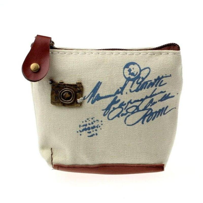 Girl Retro Design Coin Bag Purse Women Small Wallet Ladies Change Card Case Handbag Gift Eiffel Tower Pattern Mini Zipper Pocket