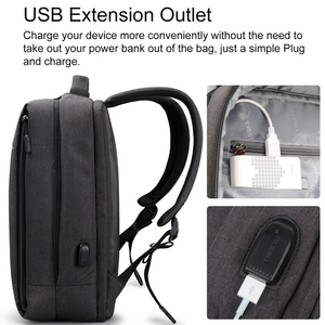 Image 3 - Tigernu Marke Schlanke Rucksack USB lade Männer 14 15,6 zoll Laptop Rucksack Frauen Splash Einfache Schule Rucksack Tasche für Jugendliche
