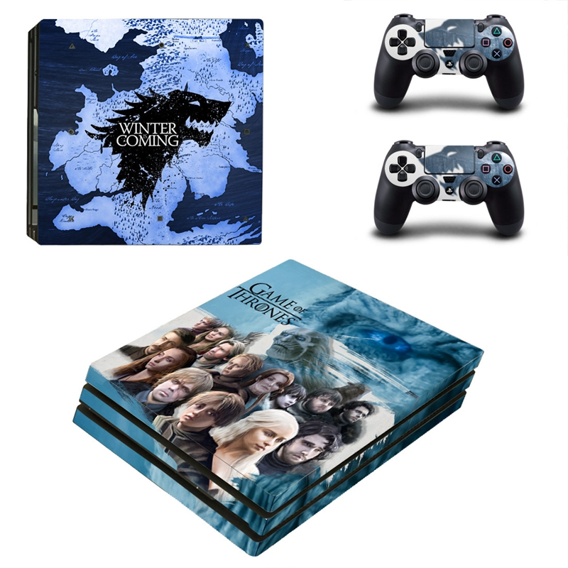 HOMEREALLY Stickers For Playstaion 4 Pro WINTER IS COMING PS4 Pro Skin Sticker HD Vinyl PS4 Pro Console and Controller Skin