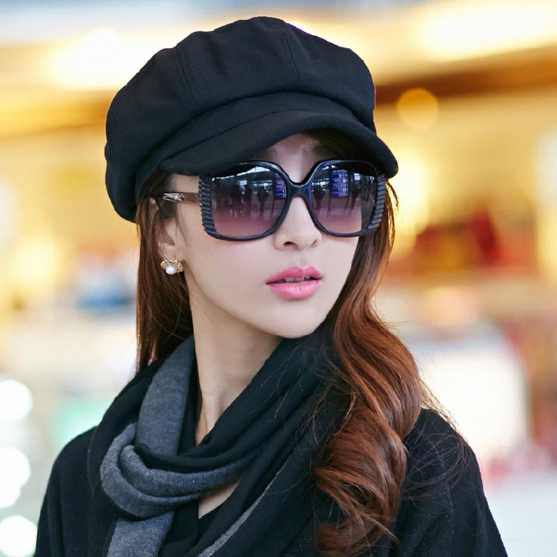 ac49948c129 Detail Feedback Questions about Europeanhat Women Sombrero Mujer Female  Autumn and Winter Newspaper Boy Hat Tide Retro Casual Wild Octagonal Cap on  ...