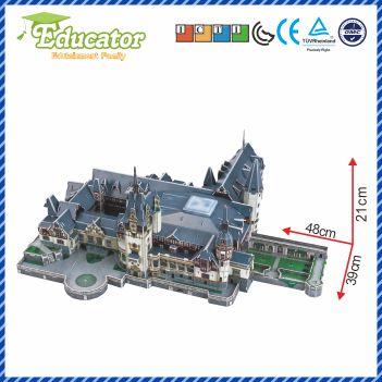 3D Puzzle model de hârtie joc Diy Castelul Peles România - Jocuri și puzzle-uri - Fotografie 3