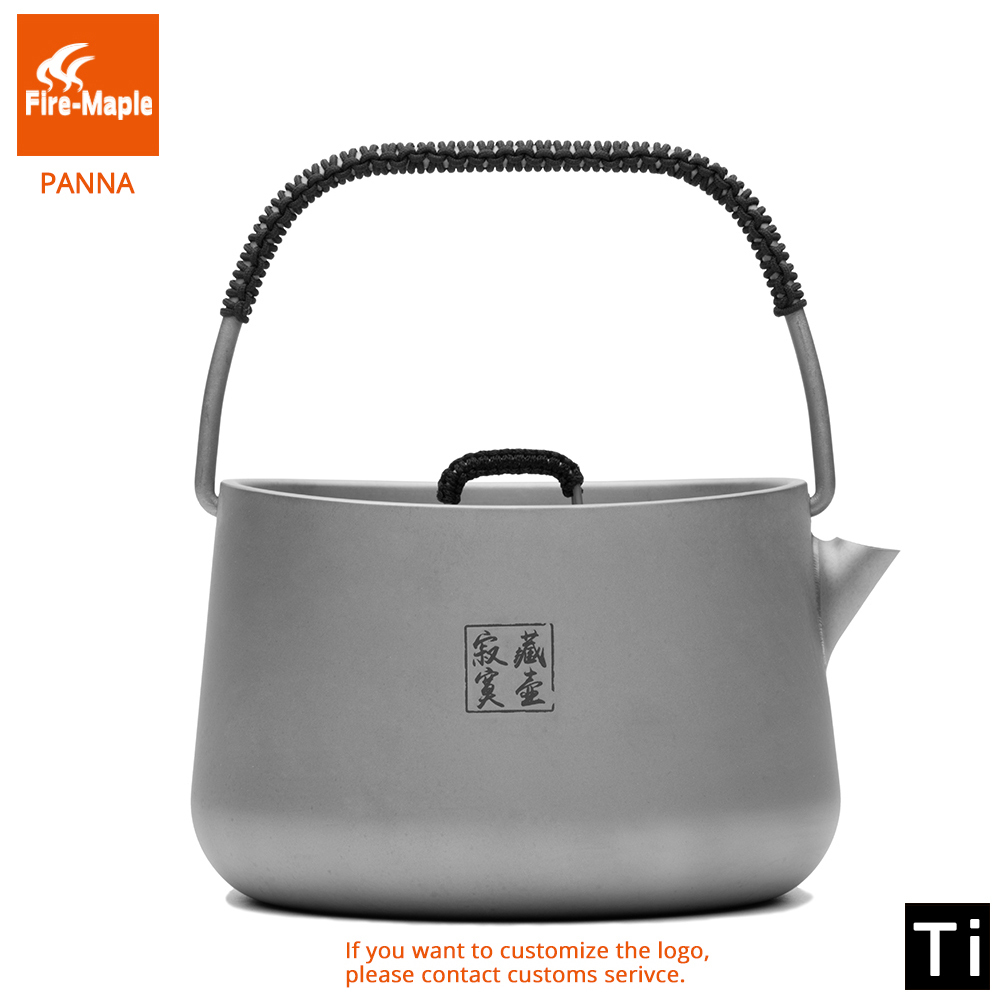 Fire Maple Panna Series Titanium Outdoor Camping Coffee Tea Pot 1L Teapot Kettle UltraLight Hiking Equipment Picnic camp Set fire maple fmp t320 titanium tea maker tea set cup tea ware 149g free shipping