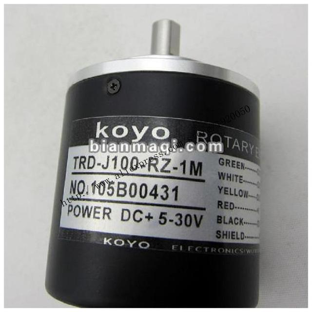 Suministro de TRD-J100-RZ-1M Koyo incremental encoder/100 líneas/diámetro de eje de 8mm/longitud de la línea 1 M