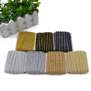 Image 2 - 5m Gold Silver Lace Trim Ribbon Curve Lace Fabric Sewing Centipede Braided Lace Wedding Craft DIY Clothes Accessories Xmas Decor