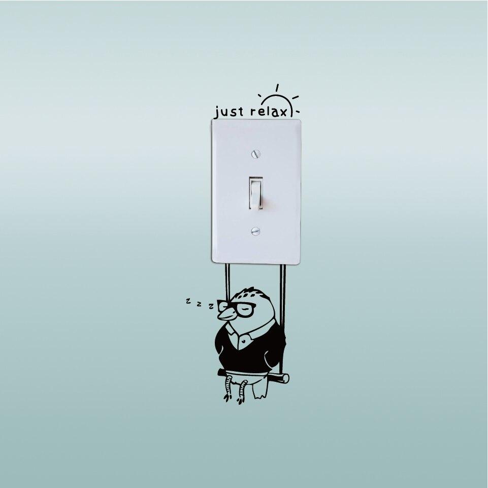 Picchio risparmiare energia elettrica interruttore sticker