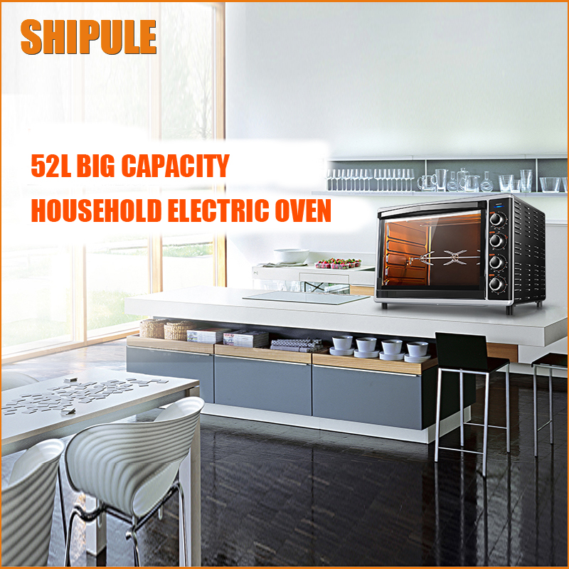 SHIPULE Brand warranty! electric oven 52 liters /L independent temperature control 6 tube heating  built-in Floodlight