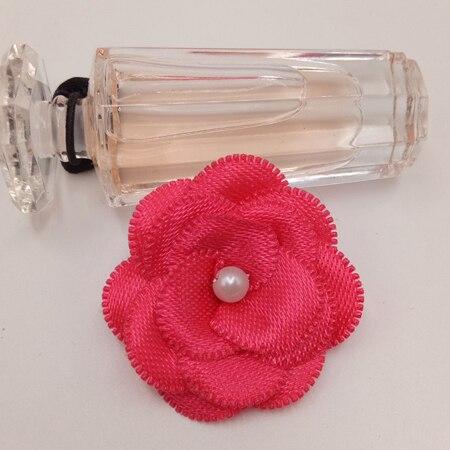 20 шт атласные Ленточные банты цветочные жемчужные свадебные аппликации «сделай сам» смешать четыре цвета - Цвет: 5