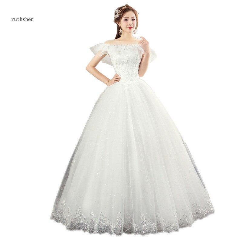 Vestido De Noiva 2018 Princess Wedding Dress Ball Gown Off: Ruthshen Princess 2018 New Ball Gowns Appliques Vestido De