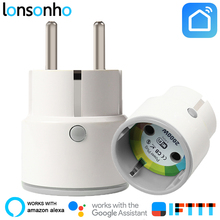 купить Lonsonho Smart Plug Wifi Smart Socket Outlet France EU US Uk Korea Plug Works With Google Home Mini IFTTT Alexa Smart Life APP по цене 846.05 рублей