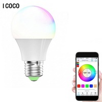 ICOCO RGBW LED Light Bulb Wifi Remote Control Smart Lighting Lamp Color Change Dimmable LED Bulb