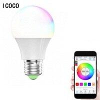 Icoco RGBW светодиодный лампочки Wi-Fi Дистанционное управление Smart Освещение лампа Цвет изменение затемнения светодиодный лампы для Android IOS Телеф...