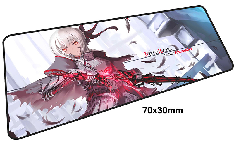 Fate Saber mousepad gamer 700x300X3MM gaming mouse pad large Beautiful notebook pc accessories laptop padmouse ergonomic mat