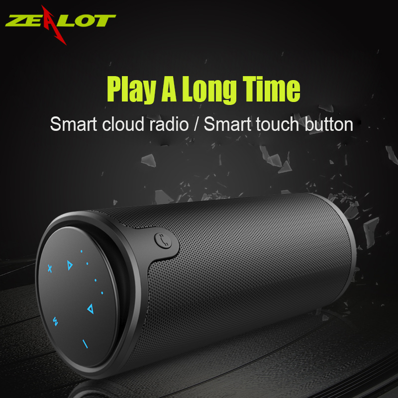 Zealot  Wireless Bluetooth Speaker Portable HIFI Bass LoudSpeaker Waterproof TF Card USB AUX Power Bank for Riding & camping good quality zealot s1 bluetooth power bank speaker and 4000mah led light for outdoor sport and 3in 1 function