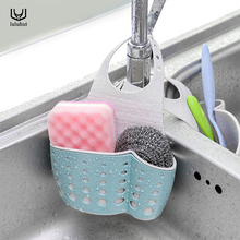luluhut kitchen storage basket wheat color double layer hollowed-out holder hanging strainer soap sponge box