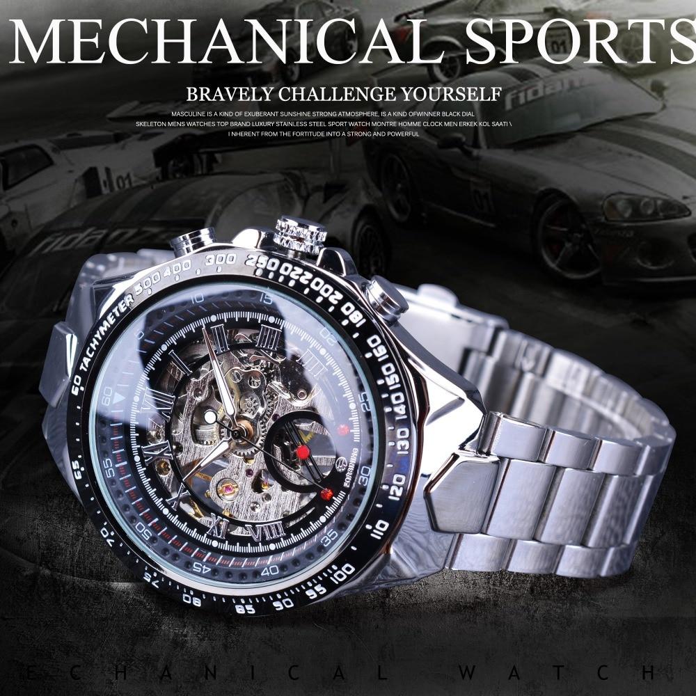 HTB1lOyjX8USMeJjy1zjq6A0dXXaC Forsining Transparent Case Open Work Silver Stainless Steel Mechanical Skeleton Sport Wrist Watch Men Top Brand Luxury Men Clock