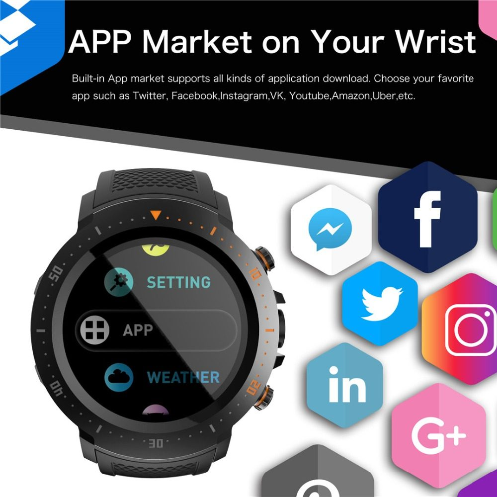 Smart Watch Outdoor Sport Smartwatch With Heart Rate Monitor Compass IP68  Waterproof Bluetooth Wach for IOS Android PK S928 DZ09